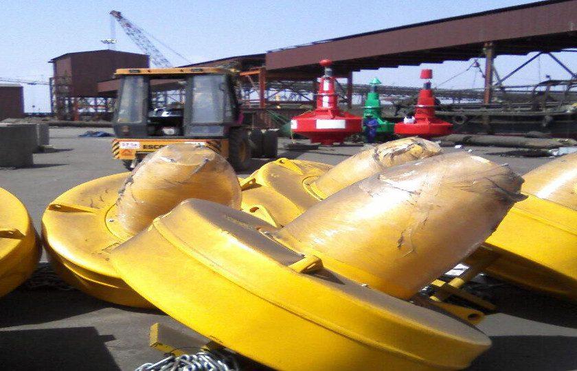 Ocean Buoys with GPS Lanterns Dighi Port, Maharashtra India
