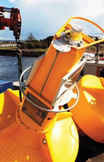 Ocean buoys mark the wreck of HMAS Canberra