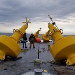 Wind Farm Exclusion Zone Marked by Sealite Aids to Navigation